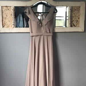 Mori Lee, Latte Color Bridesmaid Dress